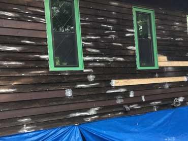 Soda blasting wood cleaner