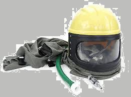 Sand blasting safety helmet - Ecoblast Restoration York and Durham Region Ontario