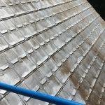 Sandblasting metal roof