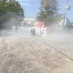 Sand and soda blasting